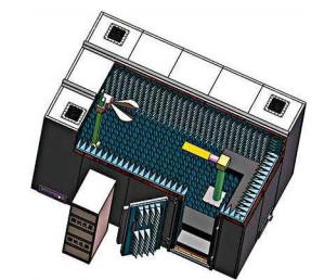 微波暗室3D示意图